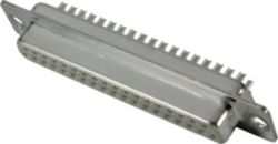 Connector, Solder cup termination, Rated current: 6.5 A, Female, Size: D-Sub 2, Thermoplastic resin, glass-fibre filled (PBTP), Plated steel